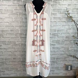 Knox Rose Sleeveless Lined Boho Floral Gauze Dress